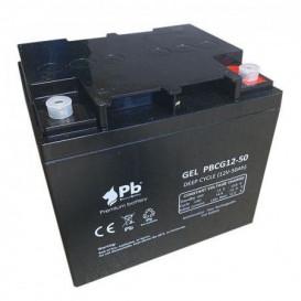 Bateria PLOMO 12V 50Ah CICLICA Para VEHICULOS