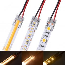 Conector Invisible Tira COB 10mm con cable