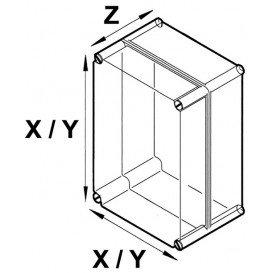 Caja Montaje 80x120x35mm ABS Color GRIS
