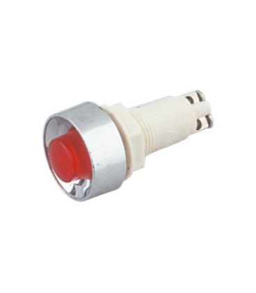 Piloto Neon 230V Rojo 12,5mm Rosca