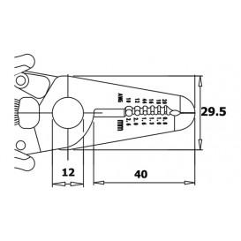 Pelacable Cables  0,81 a 2,59mm longitud 168mm