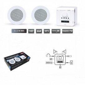Kit Sonido Empotrar Techo FM y USB KS-01 FONESTAR