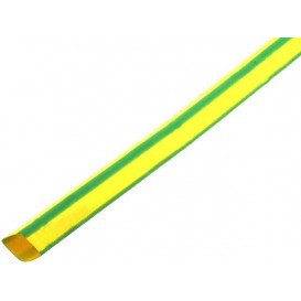 Tubo Termoretractil 19,1mm color AMARILLO/VERDE tira de 1 metro