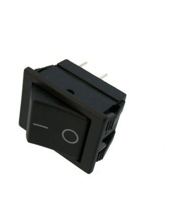 Pulsador Basculante (ON)-OFF 16A/250Vac NEGRO
