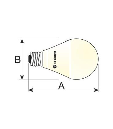 Bombilla LED E27 10W 230Vac G120 Fullglass Dia
