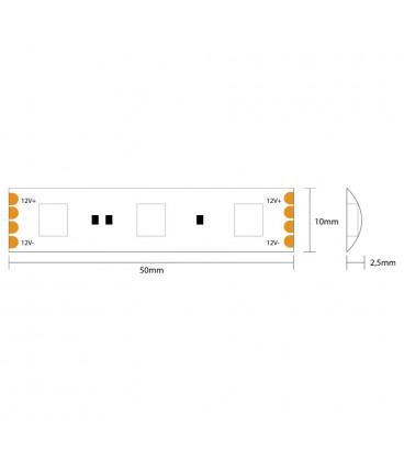 Tira LED 5m 5050 12Vdc 72W 300L IP65 RGB