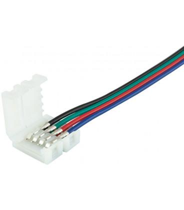 Conector Alimentacion Tira Led RGB con Cables