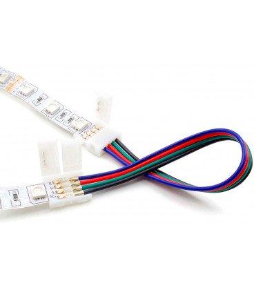 Conector Empalme Tira Led RGB con Cables 2 termin