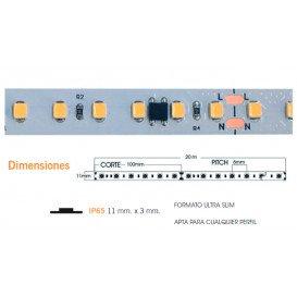 Tira LED 4000K 230V 14W/m 120LED/m IP65 20m