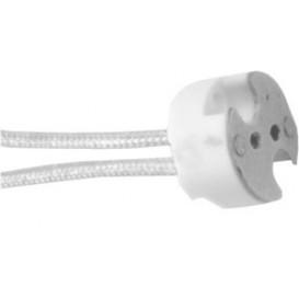 Portalamparas BIPIN G4-GU5.3-GY6.35 cable 15ctm