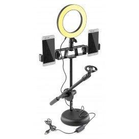 Kit Luz Circular LED y Soporte Microfono