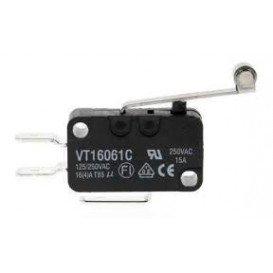 Microinterruptor Palanca + Rueda 26mm ON-(ON) 14A/250Vac