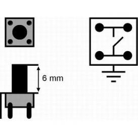 SW075 Pulsador Tacto L: 9,5mm HST0232C c/TT