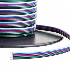 Cable Plano para Tira LED RGB CCT 6x0,50mm