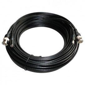 Cable BNC con conector de alimentacion 10m BLANCO