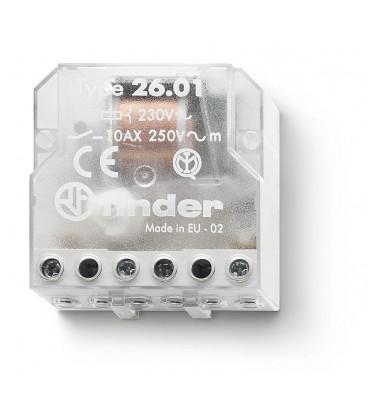 Telerruptor FINDER 230Vac 2Ctos 10A Biestable 26068230.0000