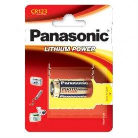 Pila CR123A PANASONIC Litio 3Vdc 1400mAh (Blister de 1 pila)