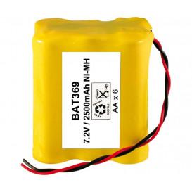 Bateria 7,2V 2500mA R6x6 Ni-Mh con cables