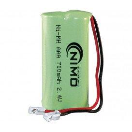 Bateria Inalambrico 2,4V 700mA NiMh conector Unive