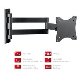 Soporte TV Extensible VESA 75/100 NEGRO