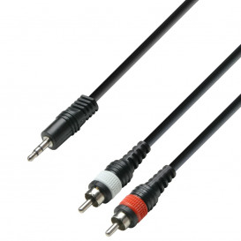 Cable JACK 3,5 ST Macho a 2RCA Macho 3m HQ