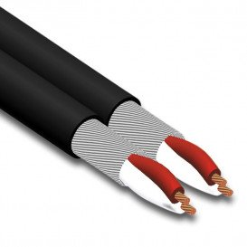 Bobina 100m Cable Audio Paralelo Blindado 4x0,16mm