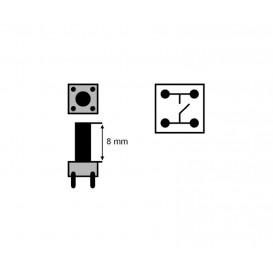 Pulsador Tacto 6x6mm Altuta total 13mm TACT-613N-F