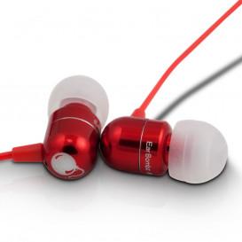 Auriculares de oido con microfono smartphone ROJO