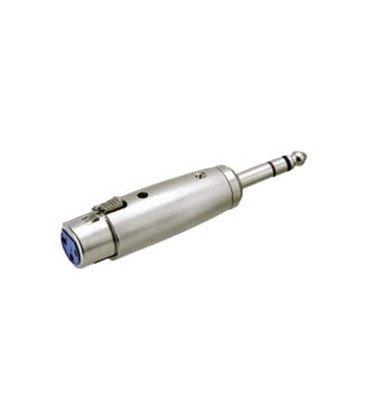 Adaptador XLR Hembra 3Pin a JACK 6,3 Macho Stereo
