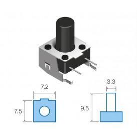 SW068 Pulsador Tacto 7,5x7,2mm pulsador 6mm largo