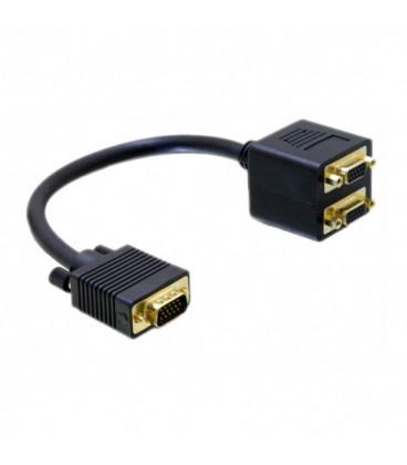 Cable VGA a 2 VGA Duplicador 0,20cm NANOCABLE