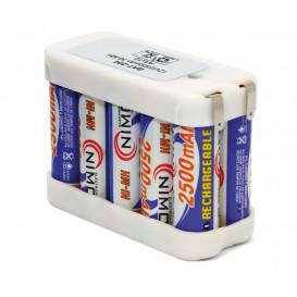 Pack Baterias 12V/2500mA AAx10 74x53x32mm