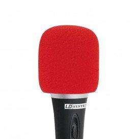 Espuma Antiviento Microfono ROJA
