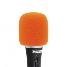 Espuma Antiviento Microfono NARANJA