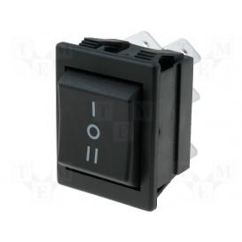 Interruptor Basculante (ON) OFF (ON) 16A/250V DP3T para Lunetas