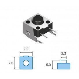 Micro Pulsador Tacto L:4,75mm HST0266 codo