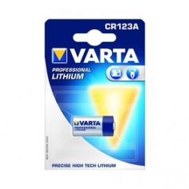 Pila CR123A VARTA Litio 3V 1480mA (Blister de 1 pila)