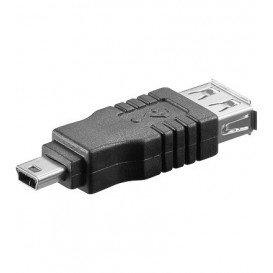 Adaptador USB A Hembra a MiniUSB B Macho