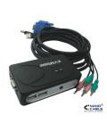 KVM USB 2PC con AUDIO