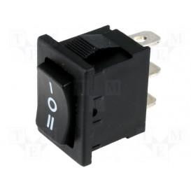 Interruptor Basculante (ON)-OFF-(ON) 3A/250Vac (Lunetas coche)