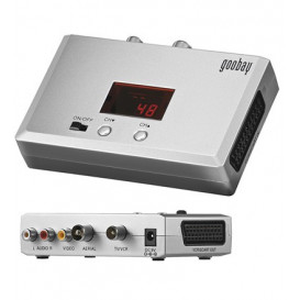 Modulador TV VHF/UHF c/indicador canal