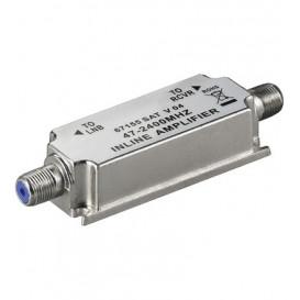Amplificador de linea FI 20dB satelite y MATV