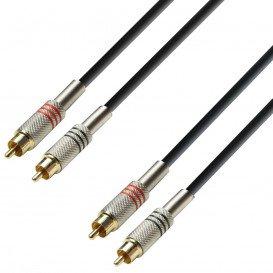 Cable RCA 2 Machos a 2 RCA Machos 1m K3