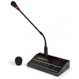 Microfono Sobremesa Avisos 5 Zonas