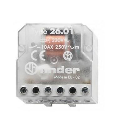 Telerruptor FINDER 230Vac 2Ctos 10A Biestable 26028230.0000