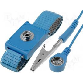 Pulsera Antiestatica ESD con cable y pinza regulab