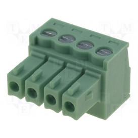 Conector C.Impreso Hembra 4 Contactos Raster 3,5mm