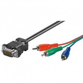Cable VGA HPDB 15 Macho RGB 3xRCA 5m