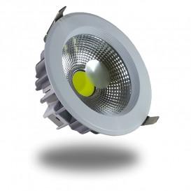 DownLight LED COB 18W 182mm 6000K Luz FRIA