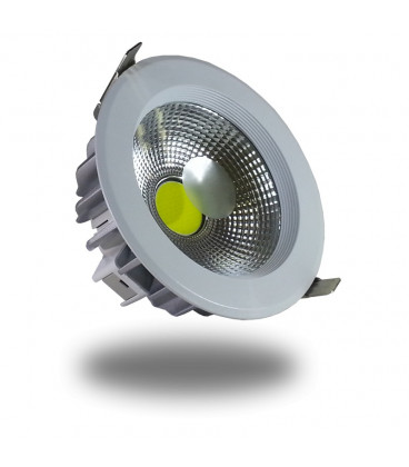 DownLight LED COB 18W 182mm 6000K Luz FRIA